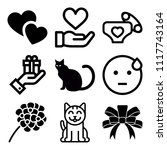 vector icon set  about love... | Shutterstock .eps vector #1117743164