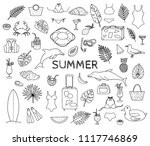 collection of doodles or rough... | Shutterstock .eps vector #1117746869