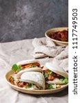 asian sandwich steamed gua bao...   Shutterstock . vector #1117749503