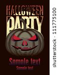 banner for halloween party with ... | Shutterstock .eps vector #111775100