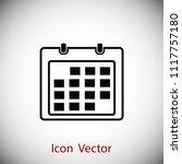 calendar icon    vector eps 10... | Shutterstock .eps vector #1117757180