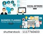 social network concept.business ... | Shutterstock .eps vector #1117760603