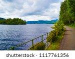 loch katrine  katrine lake  in... | Shutterstock . vector #1117761356