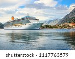 big cruise ship in the port at... | Shutterstock . vector #1117763579