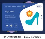 quality one page high heels... | Shutterstock .eps vector #1117764098