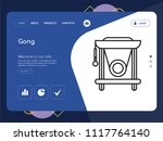 quality one page gong website... | Shutterstock .eps vector #1117764140