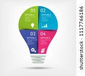 modern colorful light bulb... | Shutterstock .eps vector #1117766186