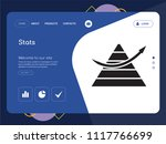 quality one page stats website... | Shutterstock .eps vector #1117766699