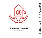 real estate company logo design ... | Shutterstock .eps vector #1117769360