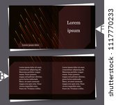brochure template with abstract ... | Shutterstock .eps vector #1117770233