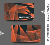 business card template with... | Shutterstock .eps vector #1117770260