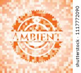 ambient abstract orange mosaic... | Shutterstock .eps vector #1117772090