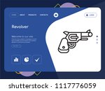 quality one page revolver... | Shutterstock .eps vector #1117776059