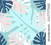 tropical floral palm pattern....   Shutterstock .eps vector #1117777310