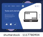 quality one page tools and... | Shutterstock .eps vector #1117780904