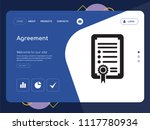 quality one page agreement... | Shutterstock .eps vector #1117780934