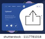 quality one page upload website ... | Shutterstock .eps vector #1117781018