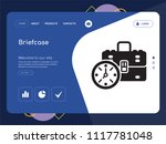 quality one page briefcase...   Shutterstock .eps vector #1117781048
