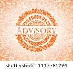 advisory orange mosaic emblem... | Shutterstock .eps vector #1117781294