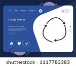 quality one page loop arrow...   Shutterstock .eps vector #1117782383