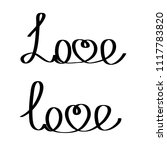 hand writting word love... | Shutterstock .eps vector #1117783820