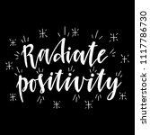 radiate positivity...   Shutterstock .eps vector #1117786730