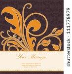 floral vintage card. vector... | Shutterstock .eps vector #111778979