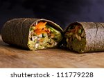 Sliced Up Raw Food Wrap With...