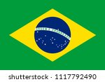 flag of brazil officially the... | Shutterstock .eps vector #1117792490