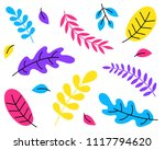 tropical plants  leafs  flowers ... | Shutterstock .eps vector #1117794620