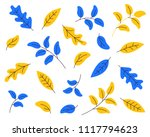 tropical plants  leafs  flowers ... | Shutterstock .eps vector #1117794623