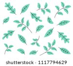 tropical plants  leafs  flowers ... | Shutterstock .eps vector #1117794629