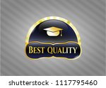 golden emblem with graduation... | Shutterstock .eps vector #1117795460