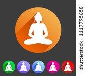 buddha statue buddhism icon...   Shutterstock .eps vector #1117795658