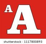 alphabet a vector icon  | Shutterstock .eps vector #1117800893
