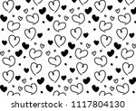 seamless pattern with black and ... | Shutterstock .eps vector #1117804130