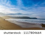 sunset at rodiles beach in... | Shutterstock . vector #1117804664