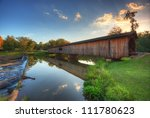 Old Covered Bridge In Watson...