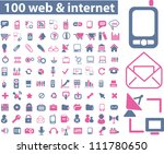 100 web   internet icons set ... | Shutterstock .eps vector #111780650