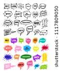 set of hand drawing balloon... | Shutterstock .eps vector #1117809050