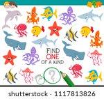 cartoon illustration of find... | Shutterstock .eps vector #1117813826