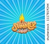 vector summer kids camp cartoon ... | Shutterstock .eps vector #1117819244