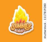 vector summer kids camp cartoon ... | Shutterstock .eps vector #1117819280
