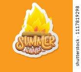 vector summer kids camp cartoon ... | Shutterstock .eps vector #1117819298