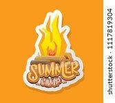 vector summer kids camp cartoon ... | Shutterstock .eps vector #1117819304