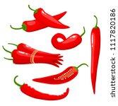 hot chili pepper isolated on...   Shutterstock .eps vector #1117820186