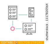 router wifi digital cluster....   Shutterstock .eps vector #1117820564