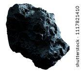 dark rock asteroid isolated on... | Shutterstock . vector #1117821410