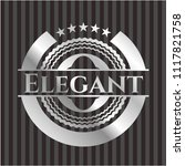 elegant silvery emblem or badge | Shutterstock .eps vector #1117821758