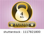 gold emblem or badge with 4kg... | Shutterstock .eps vector #1117821800